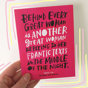 'Every Great Woman' Card - thank you cards