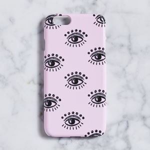 Dusty Pink And Evil Eye Phone Case