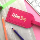Personalised Name Luggage Tag