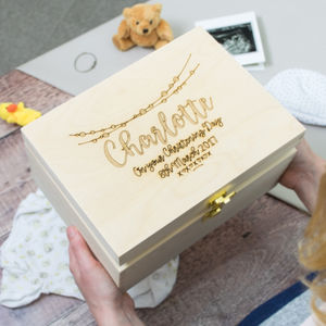 Personalised Christening Keepsake Box - baby's room