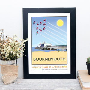 Bournemouth Pier, Dorset Print - posters