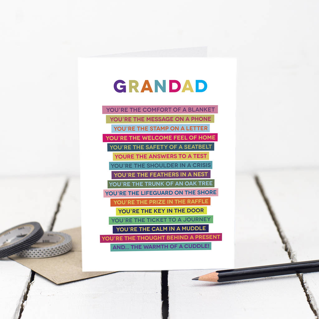Grandad Poem Card