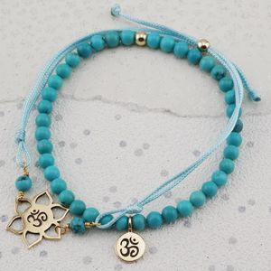 Ohm Charm Turquoise Bracelets In Gold Or Silver