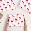 Personalised Icecream Wrapping Paper