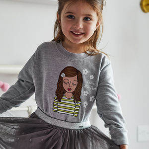 Mini Personalised 'Flower Power' Sweatshirt - clothing
