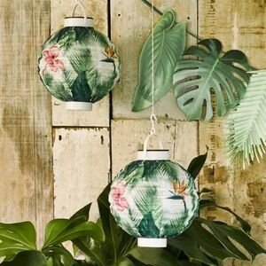 Palm Leaf Solar Party Lantern