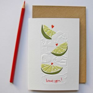 Gin And Tonic Love Greeting Card
