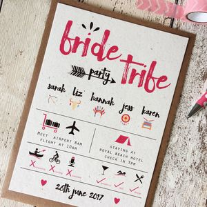 Bride Tribe Hen Party Invitations - wedding stationery