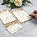 Boho Floral DIY Wedding Invitation Set