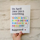 Personalised 'Wonderful Day' Date Card