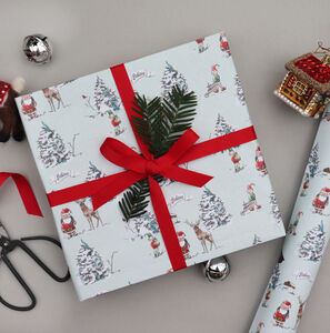 North Pole Christmas Wrapping Paper