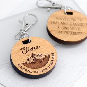 Personalised Mini Mountain Travel Tag