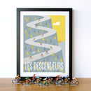 Descenders Cycling Art Print