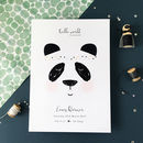 Personalised Panda Baby Birth Print