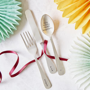Personalised Children's Cutlery Set