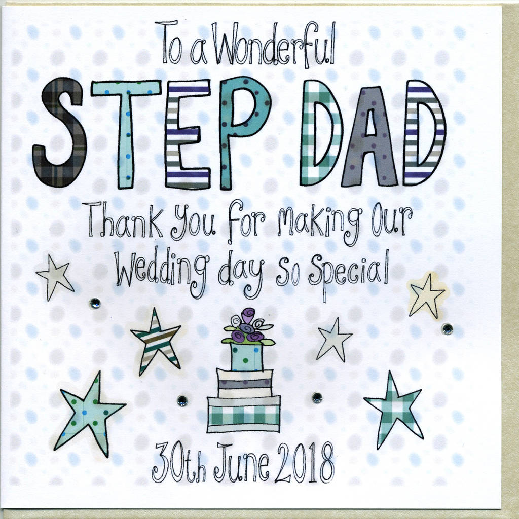 Personalised Step Dad Wedding Thank You Card By Claire Sowden Design