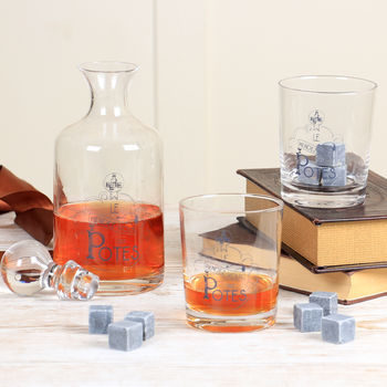 Apothicaire Vintage Style Carafe And Whiskey Glasses