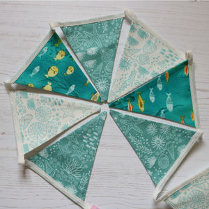 Mini Under The Sea Seaside Cotton Bunting - home accessories