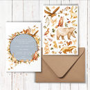 Golden Woodland Animals Invitations
