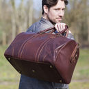 Luxury Brown Oiled Leather Holdall