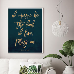 Shakespeare Print - typography