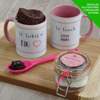 It Takes A Big Heart To Teach Little Minds Mug Cake Kit