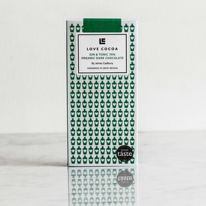 Limited Edition: Gin And Tonic Dark Chocolate Bar - dairy free easter