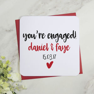 You're Engaged Personalised Engagement Card