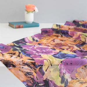 Large 'Flowers' Pure Silk Scarf - scarves