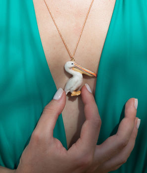 Natural Pelican Necklace