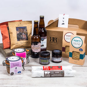 British Charcuterie Snack And Beer Or Cider Hamper