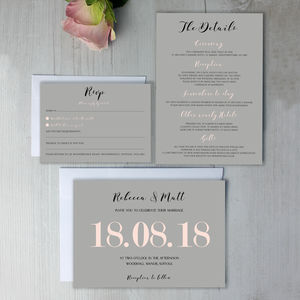 Modern Traditional Pastel Wedding Invitation - order of service & programs