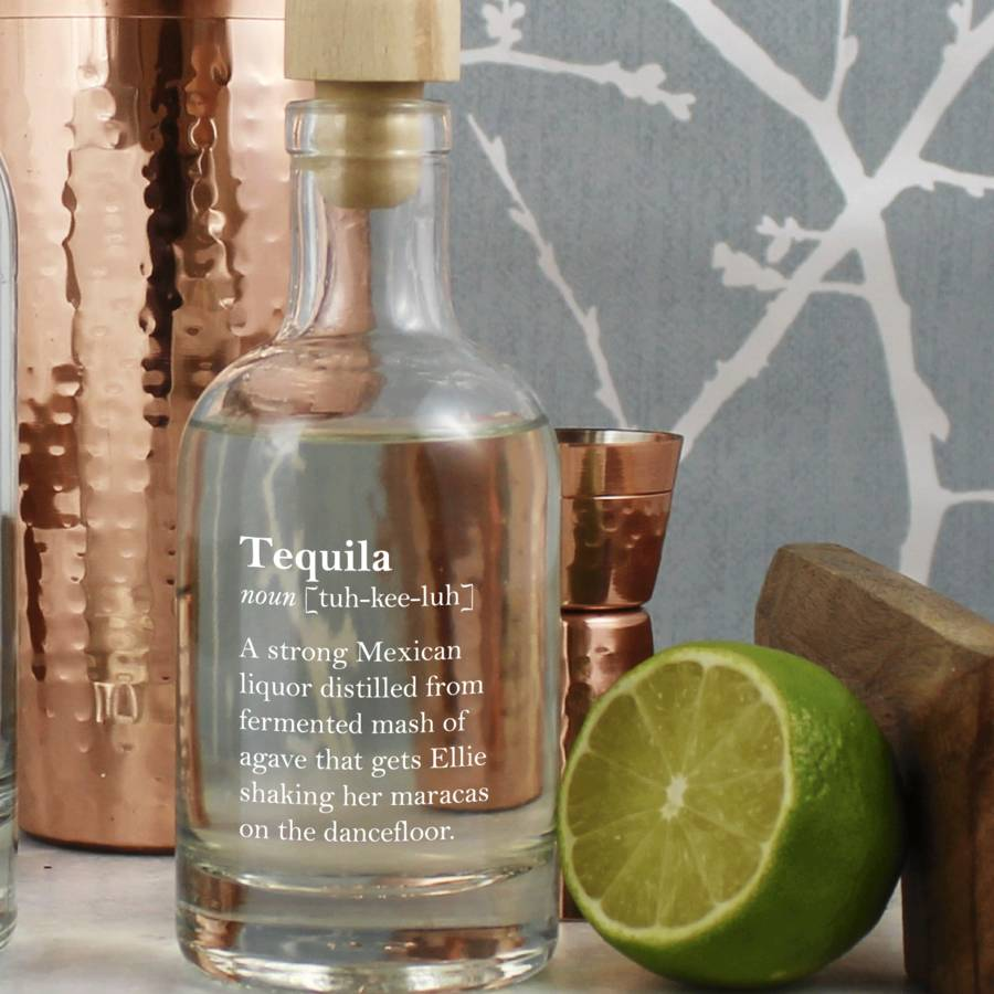 Funny Personalised Tequila Definition Decanter