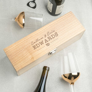Love Symbol Marriage Or Engagement Gifts Wine Box - kitchen