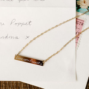 Personalised Handwriting Necklace - for mothers
