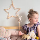 Personalised Pom Pom Fairy Light Star