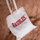 'Baubles' Christmas Tote Bag