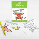 Colour In Thank You Cards