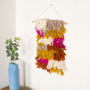 Shaggy Wool Hand Knitted Wall Hanging - re-earthed