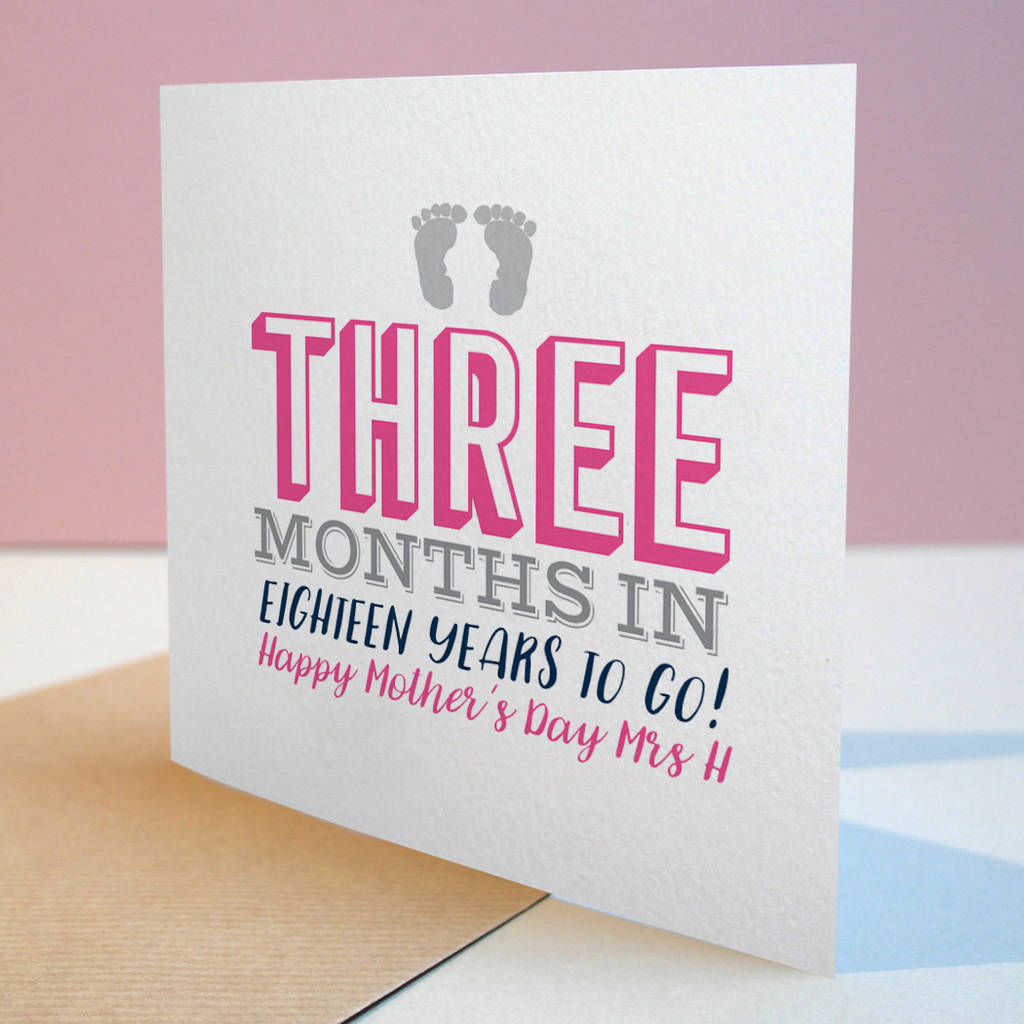 Typographic New Mum Card By Letterfest Notonthehighstreet Com
