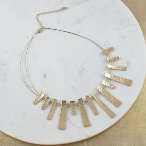 Hammered Metal Sun Necklace - party wear & accessories