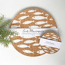 Set Of Four Cork Sardines Mats
