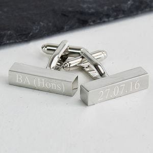 Graduation Personalised Bar Cufflinks - cufflinks