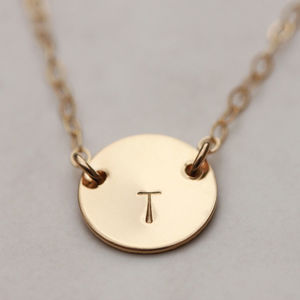 Suspended Gold Or Silver Initial Necklace - more