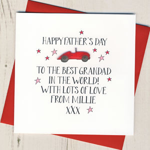 Personalised Grandad Father's Day Card - father's day cards