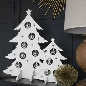 White Alternative Wooden Christmas Trees - christmas trees