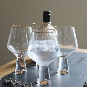 Gold Rim Gin And Tonic Glasses Set Of Four - our favourite gin gifts