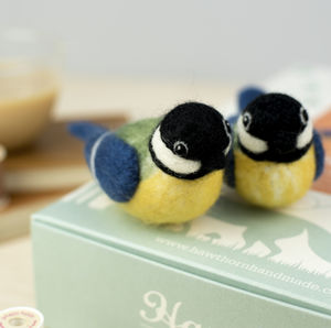 Great Tits Needle Felting Craft Kit - sewing & knitting