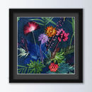 Indigo Tropical Art Print, Modern Framing Options