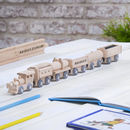 Personalised Wooden Freight Train With Display Track